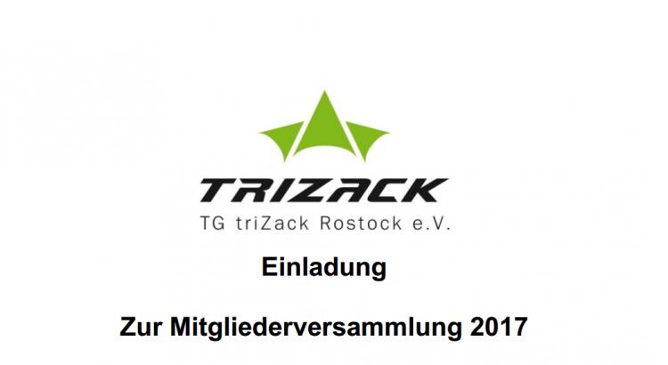 einladung zur mitgliederversammlung 2017 – triathlongemeinschaft, Einladung